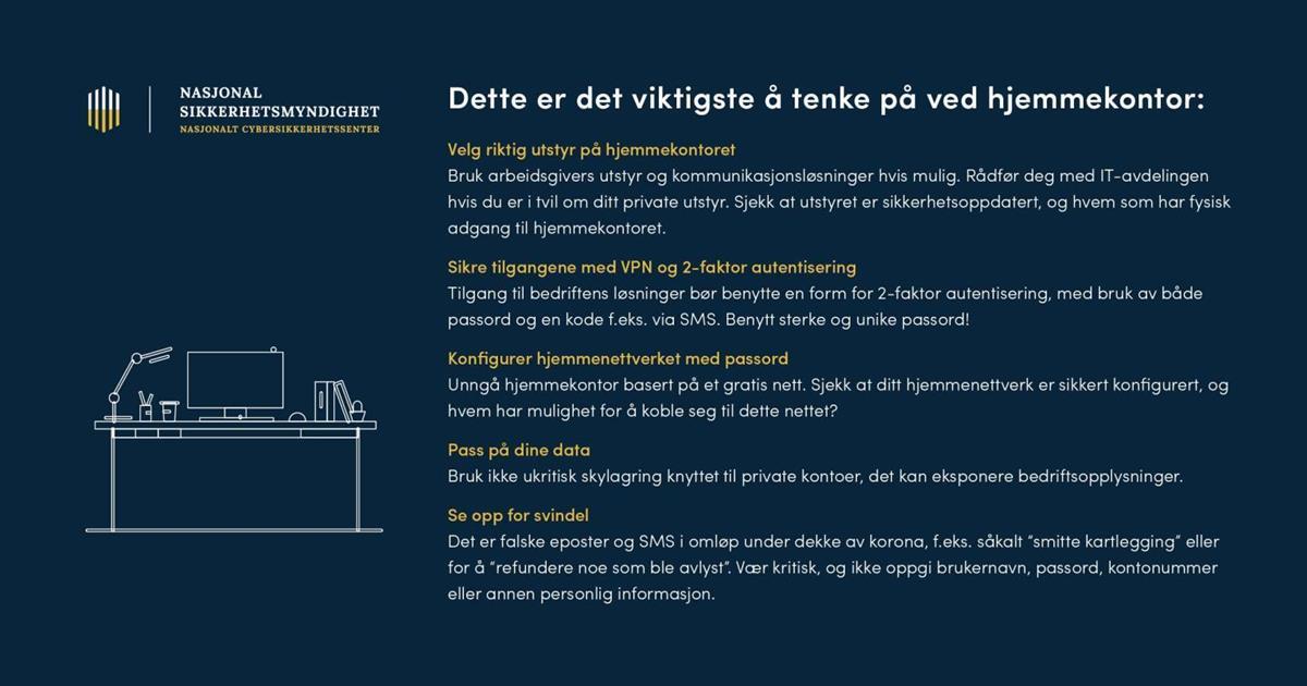 It Sikkerhet Og Svindelforsok I Koronakrisen Asnes Kommune